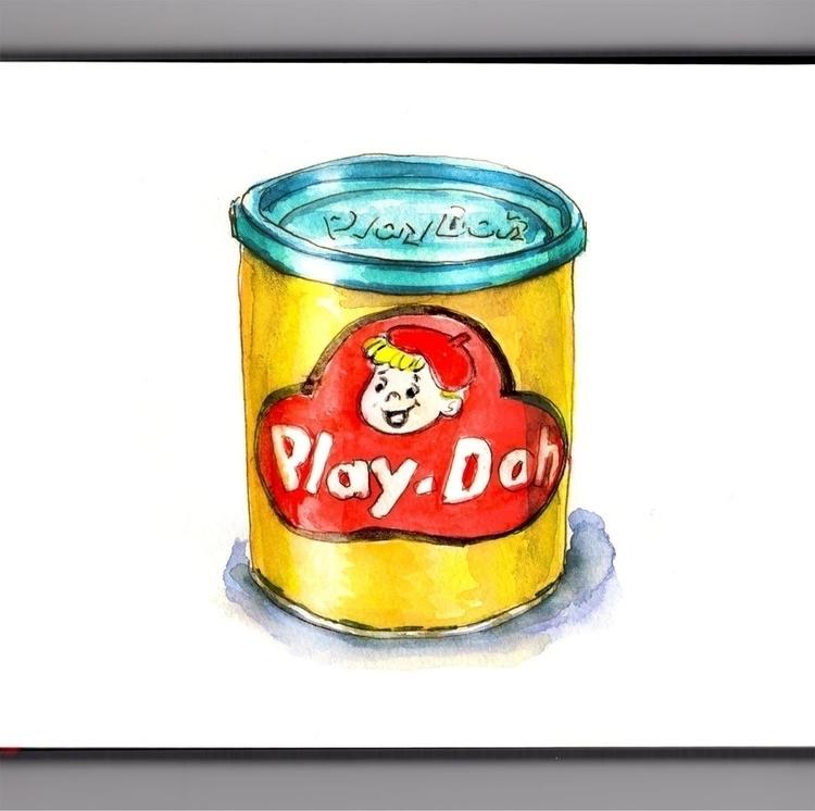 - Day 21 Favorite Toy - WorldWatercolorGroup - doodlewash | ello