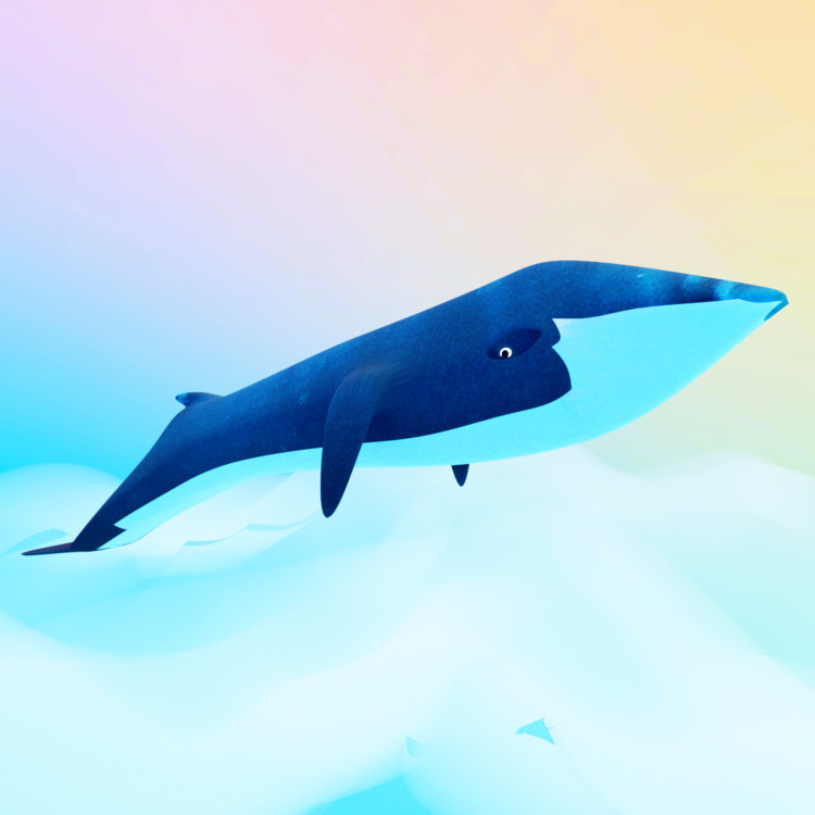 Sky Whale - art, clouds, whale, animal - solutuminvictus | ello