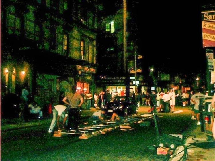 East Side, June 2001: filming M - oliverbo   ello