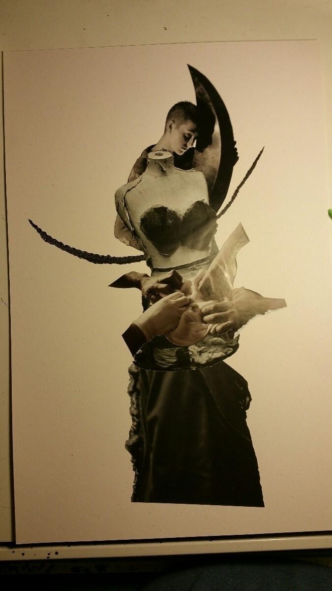 inks - collage, collageart, penandink - curtispatrickarnold   ello