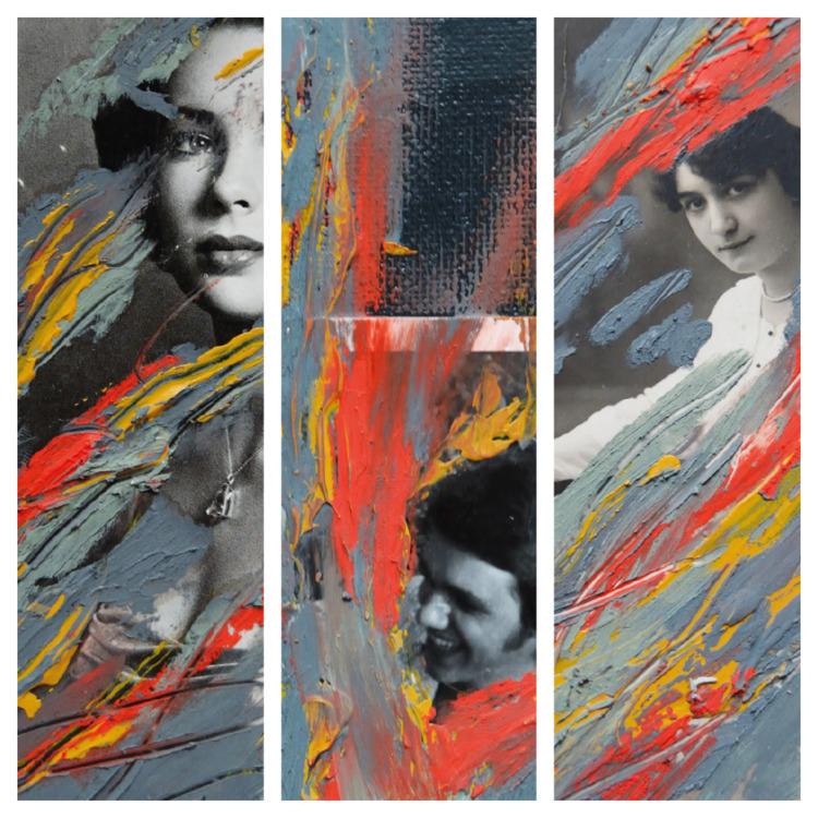 Tryptich Strangers Acrylic, oil - abruiseonthearm | ello