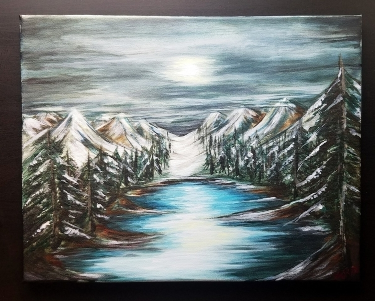 Winter Coming Acrylic Canvas An - anjelicaroses | ello