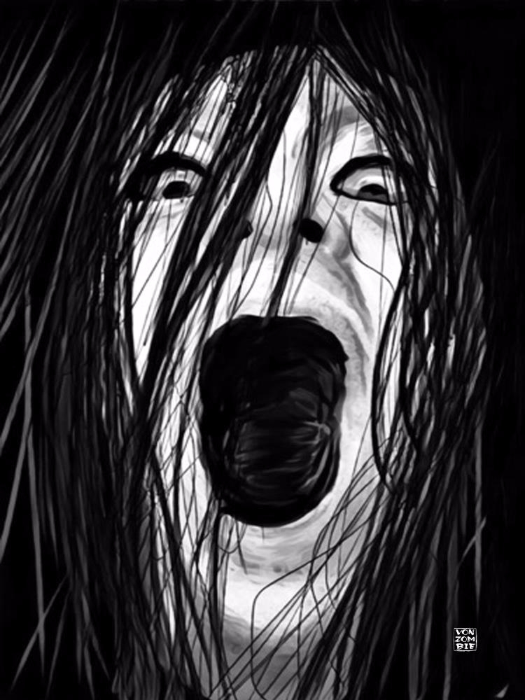 Sadako original digital art pie - vonzombie | ello