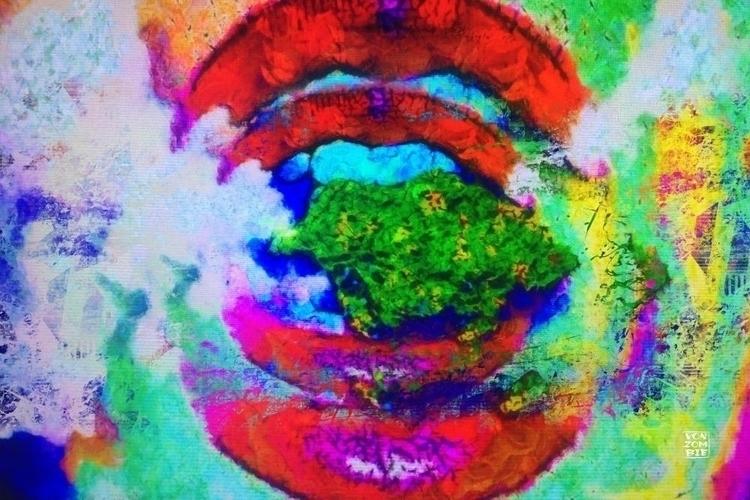 Lip Service original piece crea - vonzombie | ello