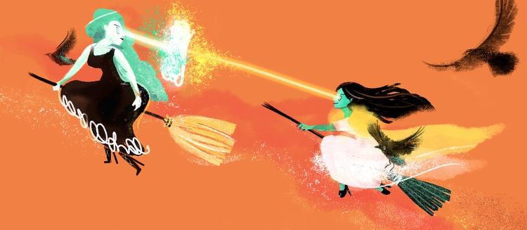 Witches Broomsticks, pumpkins l - pyhai | ello