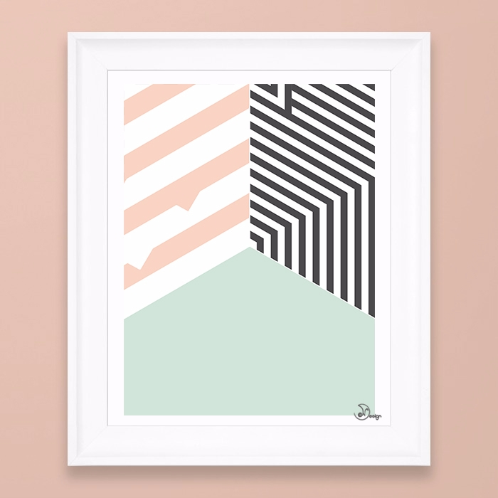 Mint Room Abstract geometric co - designdn | ello