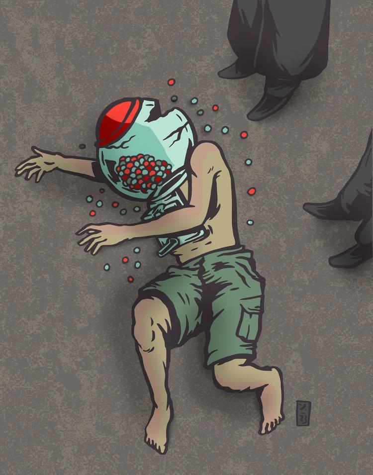 Joyless - illustration - thomcat23 | ello