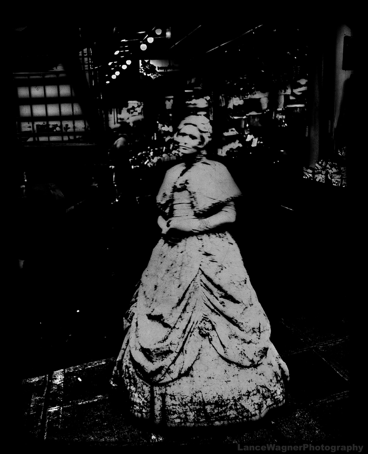 Ghostly Statue longs walk livin - lancewagnerphotography | ello