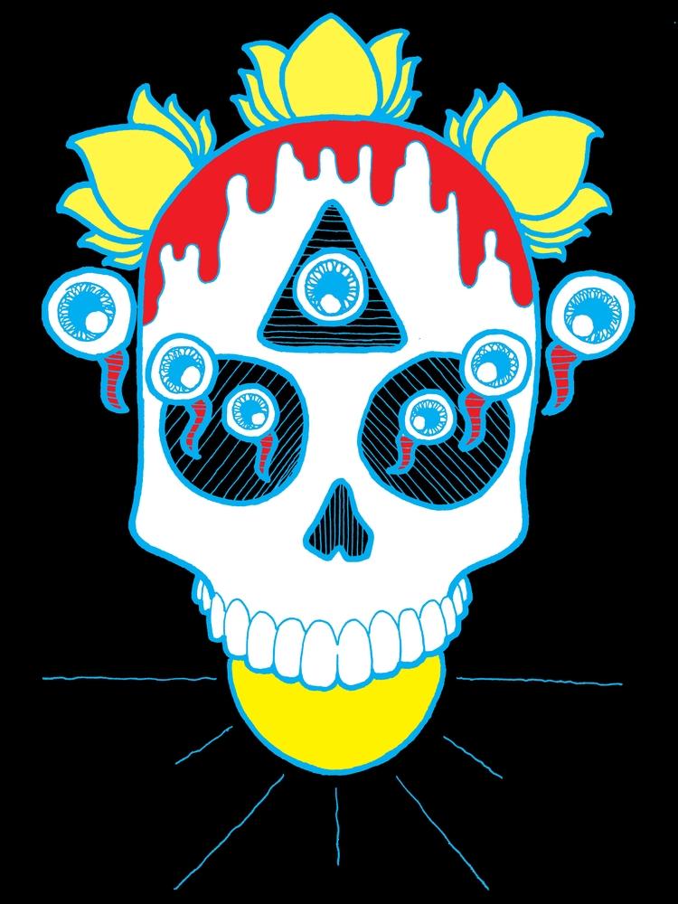 trippy, skull, love - jaceface | ello