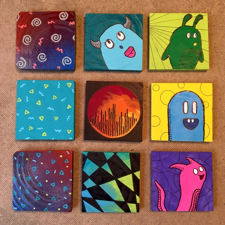 Working coasters art booth Okto - benjaminnelson | ello