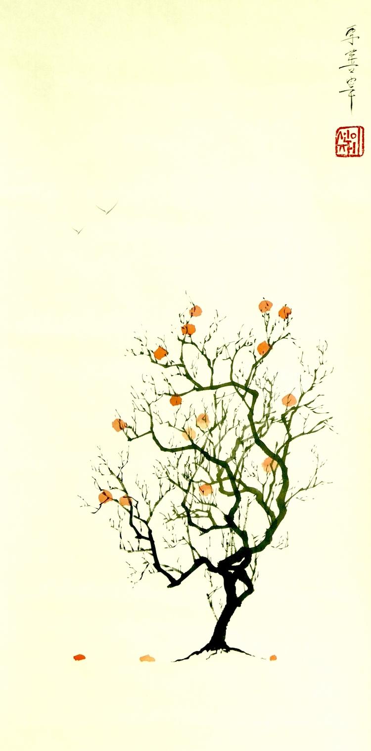 Persimmon Tree - 2 - eugenesunjae | ello