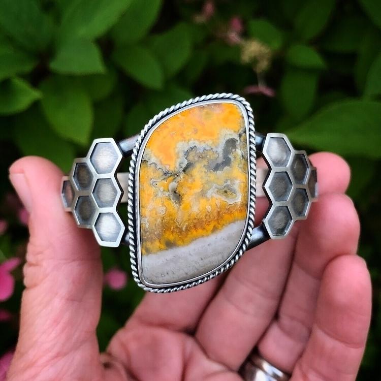Bumblebee Jasper cuff bracelet  - lisajdesigns | ello