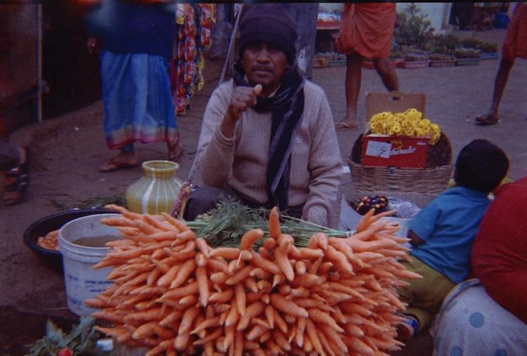 carrot seller ooti, india - analog - yuraak   ello