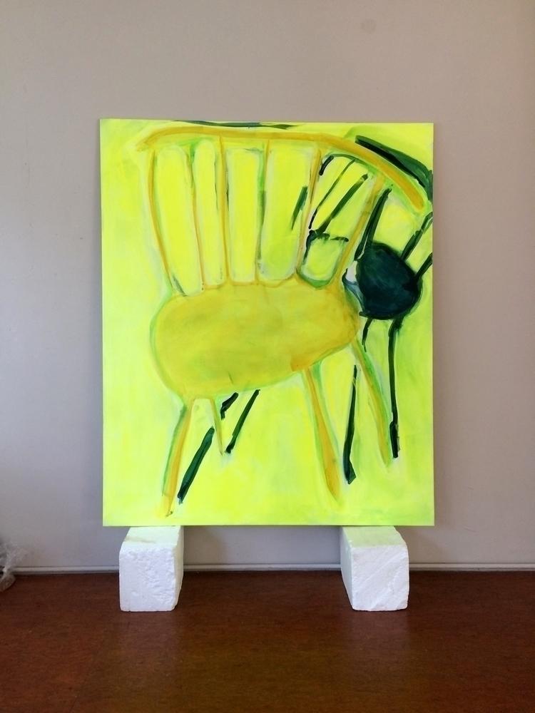 Chair, 2017, acrylic cotton, 19 - julikageissler   ello