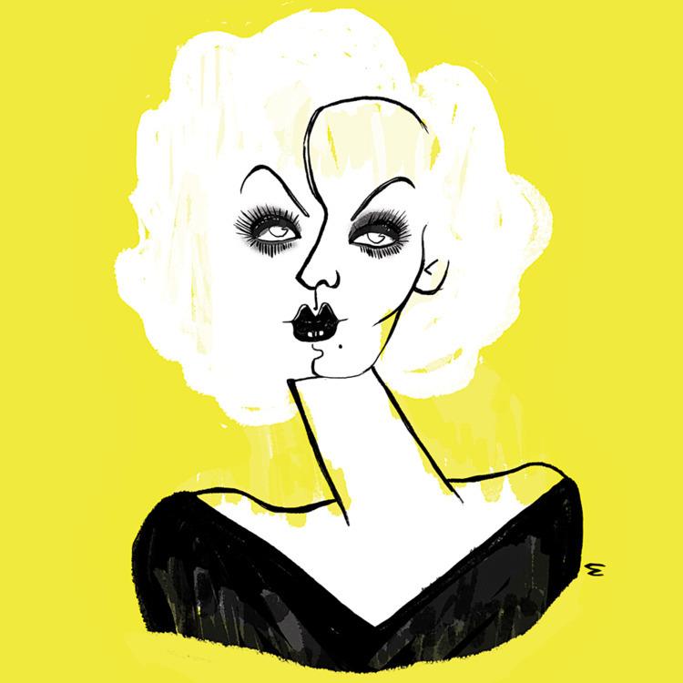 Jean Harlow - art, illustration - eduardorama | ello