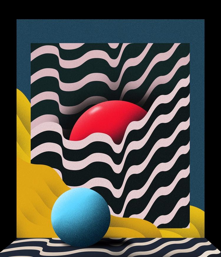 Shhh, 2017 - art, illustration, 3d - esdanielbarreto | ello
