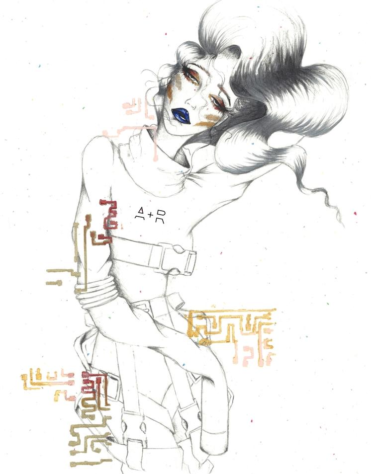 Martian - alien, fashion, illustration - kilkaleidoscope | ello