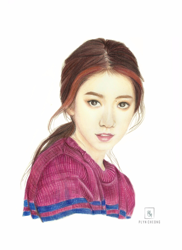 Gorgeous - portrait, drawing, colouredpencil - plyncheong | ello