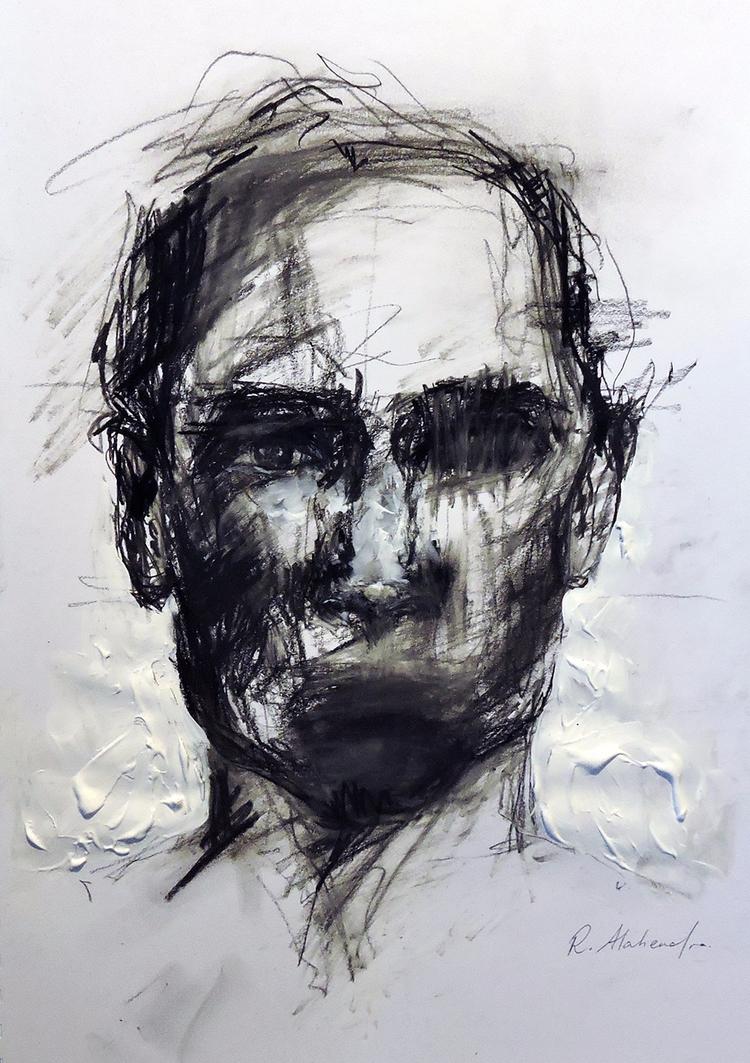 Charcoal Sketch - art, drawing, portrait - alahendra | ello