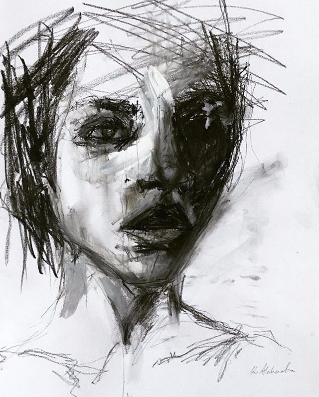 Charcoal Sketch 2 - art, drawing - alahendra | ello