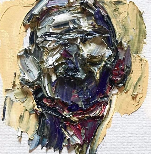 Painting head. Oil canvas - art - alahendra   ello