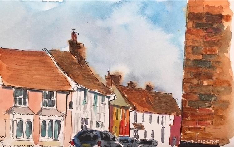 - Morning sky sketch Lavenham b - artchapenjoin | ello