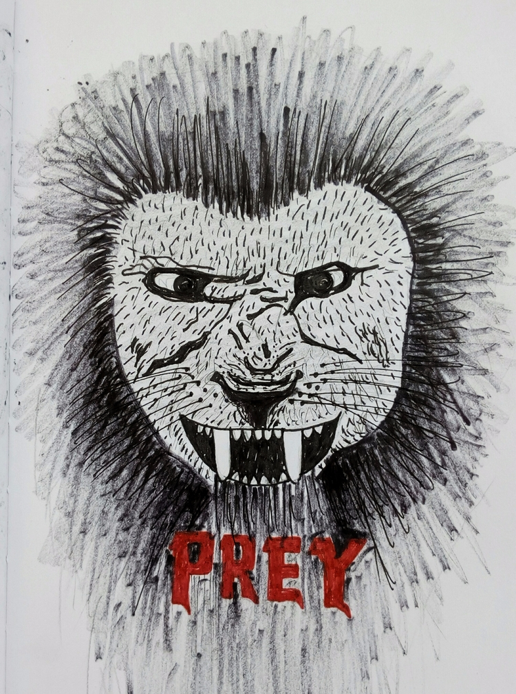 Prey. Ouch.. Daily drawing - 520 - imaginarythinking | ello