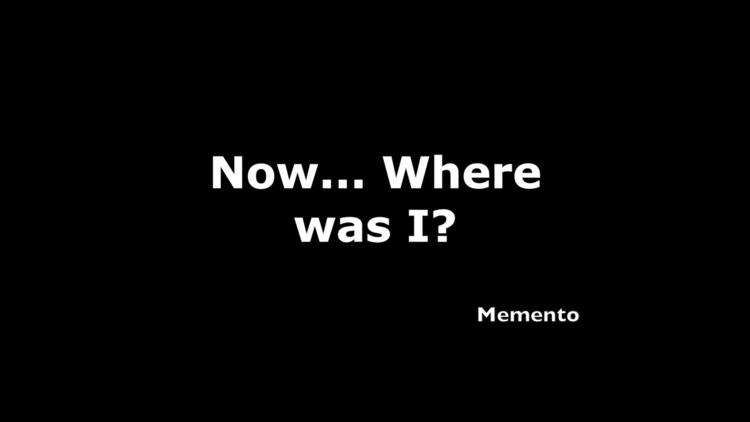 Memento, quote. design artwork  - moviemania | ello