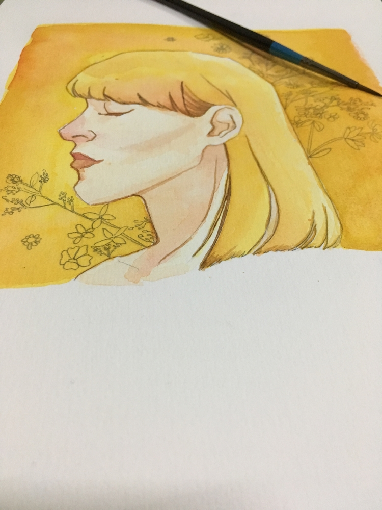 wip, iilustration, flowers, art - summergurl | ello