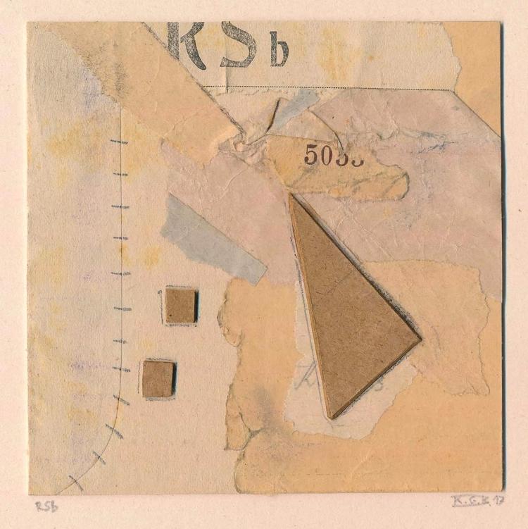 RSb cutpaste/2017 - 11x11 cm - abstrakt - papiergedanken | ello