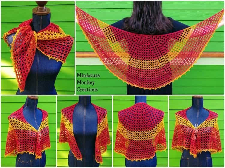 hoped share shawl today, ash ai - miniaturemonkeycreations   ello