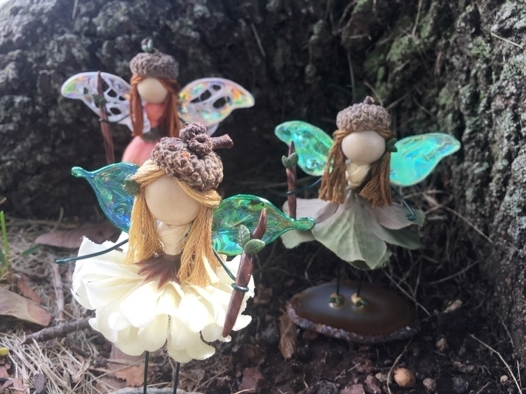 3 mini autumn faeries listed! a - faerieblessings | ello