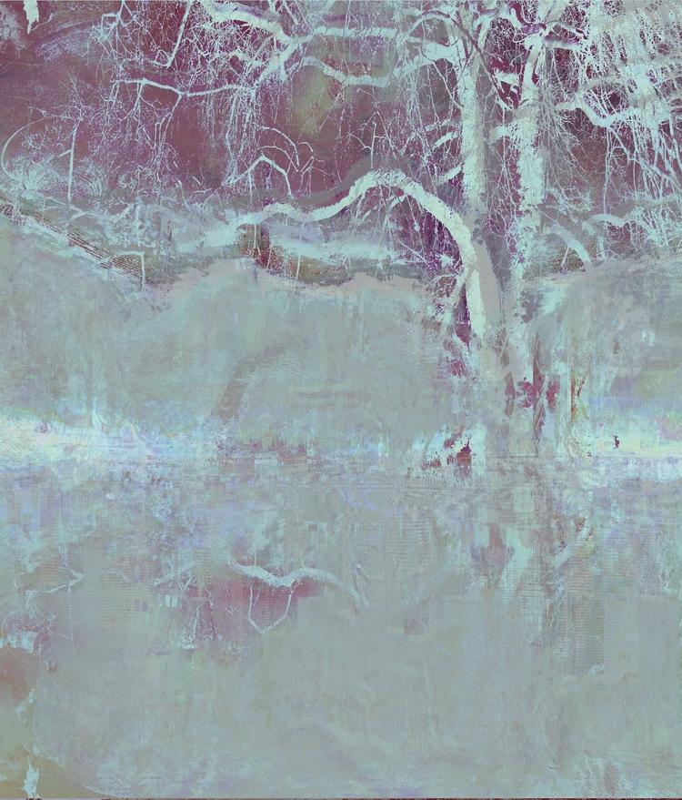 Misty Morning Ghost Gums - dizwhi | ello