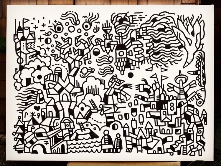 Millionth Pass, India ink, 36 4 - mikebiskup | ello