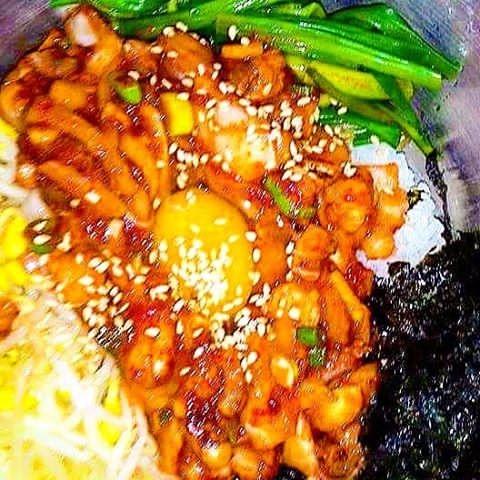 eat national dish :wink:#Yum - OctopusBibimhap - vicsimon | ello