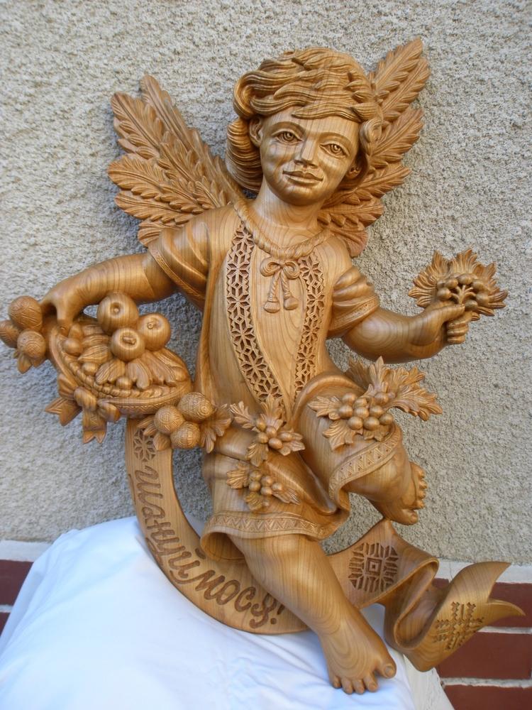 sculpture, woodcarving, angel - oleggetmanchuk   ello