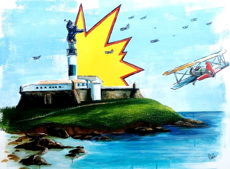 Farol da Barra, acrylic canvas  - lizunder | ello