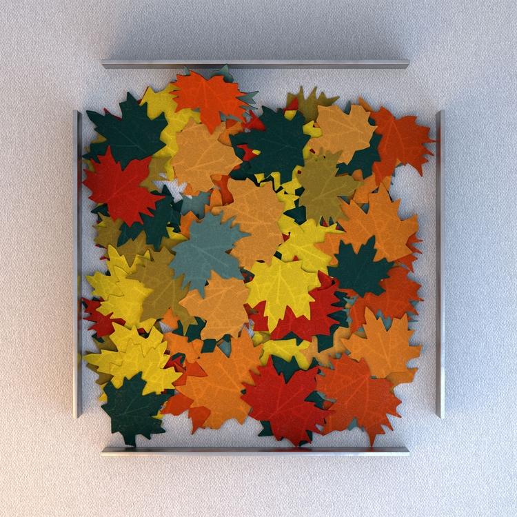3d fake leaves - philippec | ello