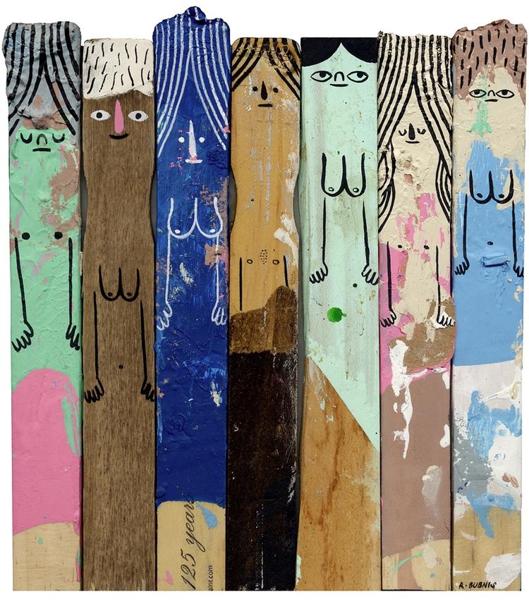 Paint Sticks People piece. pain - rbubnis   ello