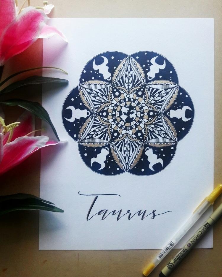 Taurus mandala embellished gold - thecreativecave | ello