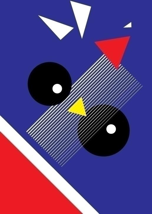 Monsieur Coq - print, bauhaus, illustration - gtgraphic | ello