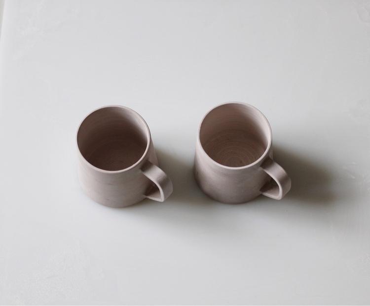 Mug tests drying studio, ready  - elliottceramics | ello