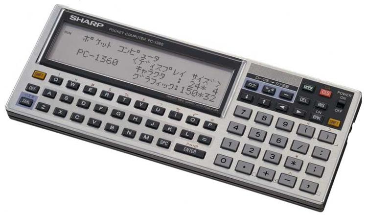 PC-1360 (SHARP 1986 - RetroPC, HandheldPC - shingos   ello