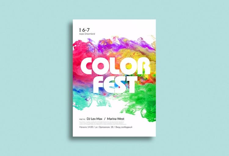 Colorfest (Concept) festival - design - fxsd | ello