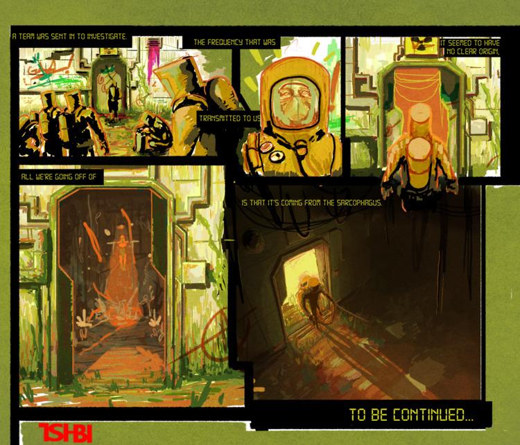 heres comic page experimenting  - tsi-bi | ello