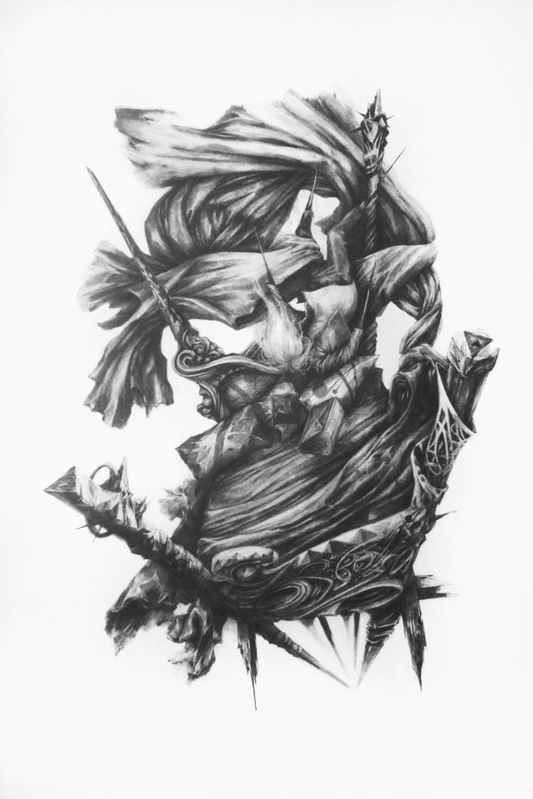 A1 pencil drawing - nottakeiron | ello