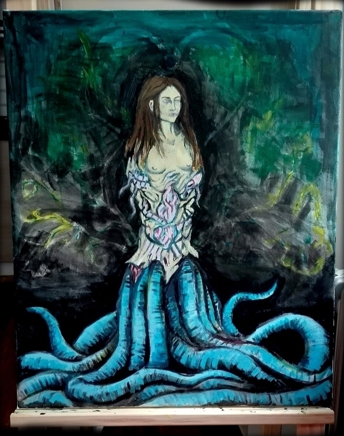 Work progress. Tentacle Queen - Transitiongoals - nikita_r | ello