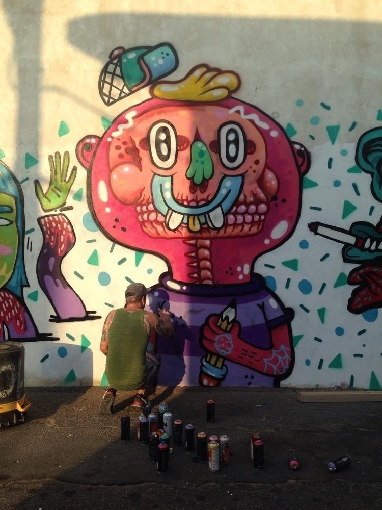 Saturday street painting Missk  - frenemy | ello