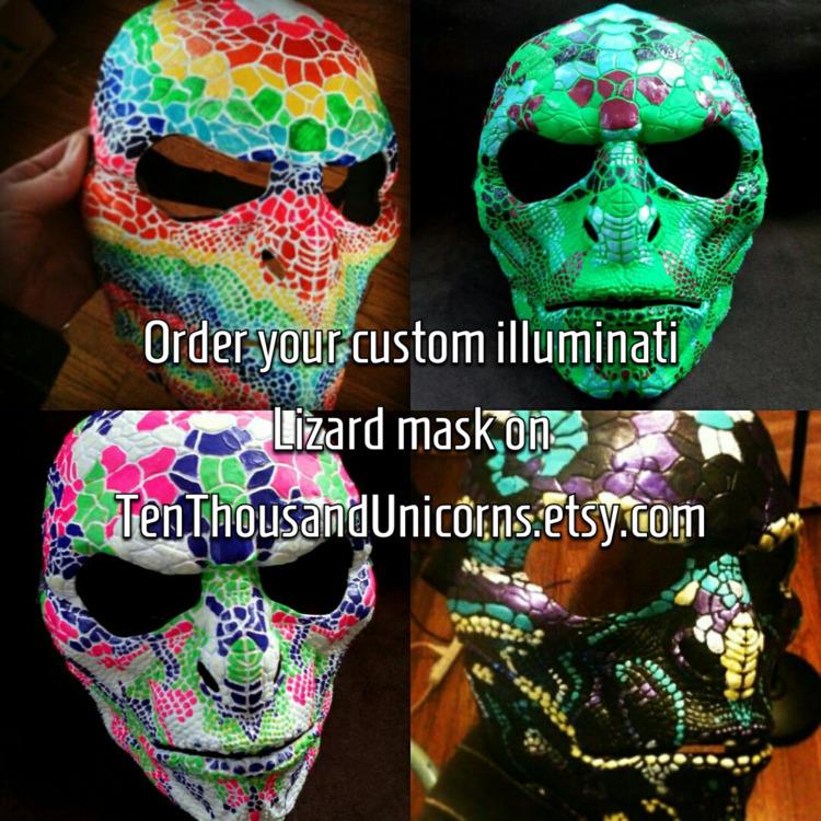 hand painted custom Illuminati  - tenthousandunicorns | ello