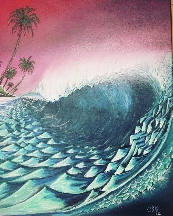 acrylic canvas 90x60 - surfart, oceanart - nskart | ello